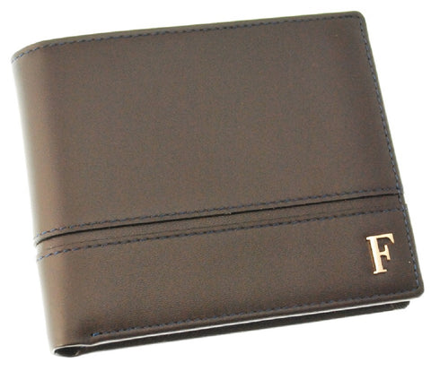 Ferre Milano Wallet Nappa Brown + Navy