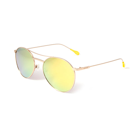 GFF Unisex Sunglasses (Yellow+Silver Mirror Gradient)