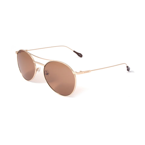 GFF Unisex Sunglasses (Brown+Silver Mirror Gradient)