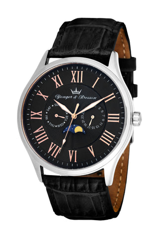 Yonger & Bresson Gents Black Dial Watch