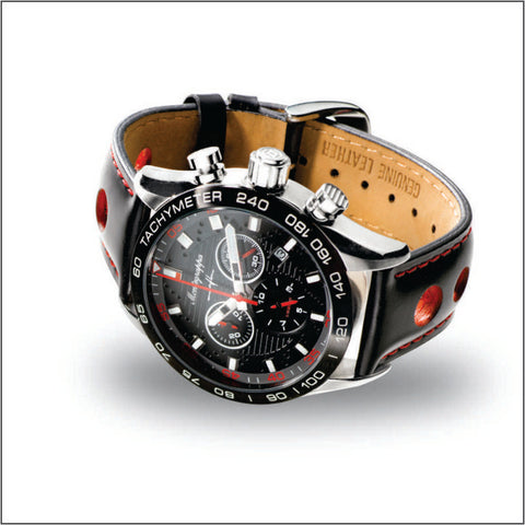 Montegrappa Watch Jean Alesi Gents Black Dial