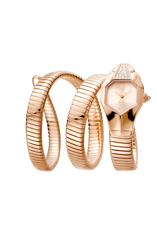 Just Cavalli Glam Chic Rose Gold Dial Ladies Watch