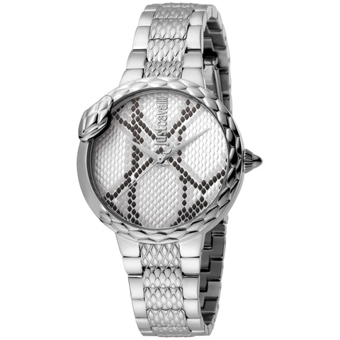 Just Cavalli Watch Ladies Silver Dial SS Bracelet