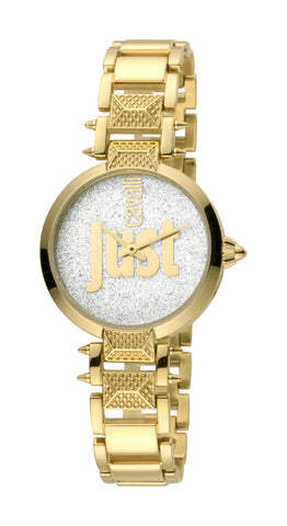 Just Cavalli Watch Ladies Silver/Gold Dial GP Bracelet