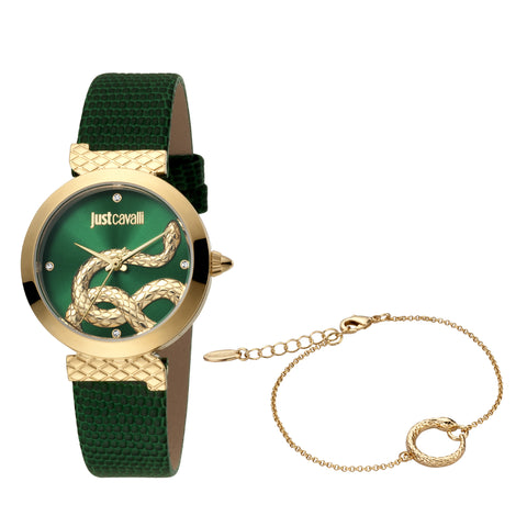 Just Cavalli Watch Ladies Green Dial
