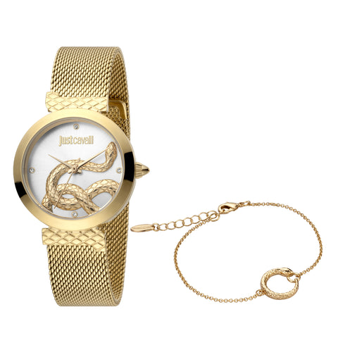 Just Cavalli Watch Ladies Silver Dial