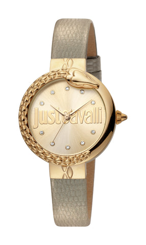 Just Cavalli Ladies Champagne Dial Watch