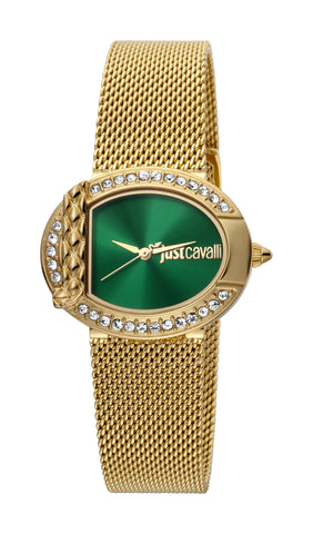 JUST CAVALLI GREEN DIAL LADIES WATCH
