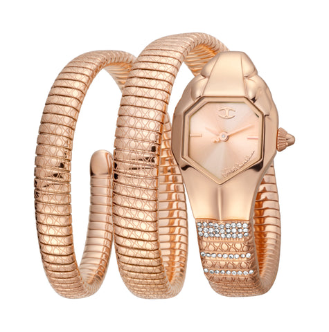 JUST CAVALLI LADIES BRACELET WATCH ROSE GOLD DIAL