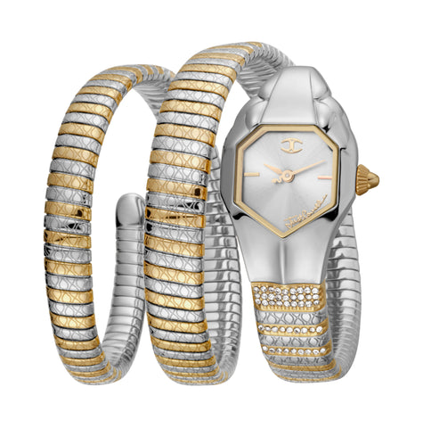 Just Cavalli Silver Dial Ladies Watch