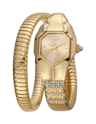 JUST CAVALLI LADIES BRACELET WATCH CHAMPAGNE DIAL