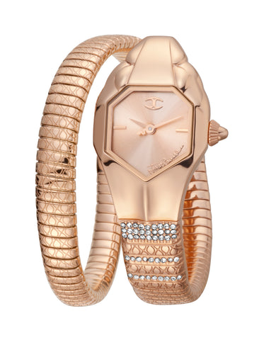 Just Cavalli Rose Gold Dial Ladies Watch