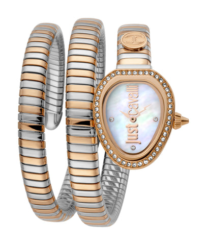 Just Cavalli Watch Ladies White MOP Dial