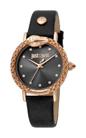 Just Cavalli Watch Ladies Black sunray Dial