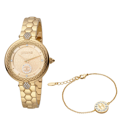 Just Cavalli Watch Ladies Champagne pattern (inner)/ champagne (outer) Dial