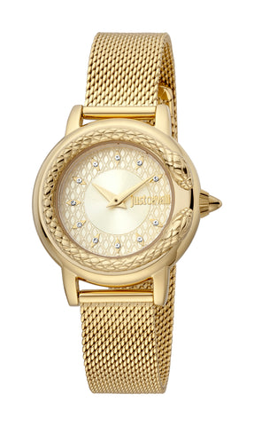 Just Cavalli Watch Women Gold 23 mm Champagne Dial
