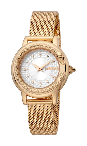 Just Cavalli Watch Women Rose Gold 23 mm Silver Dial