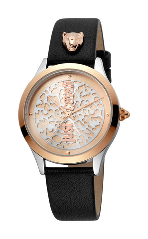 Just Cavalli Watch Women Black 29 mm Rose Gold Dial