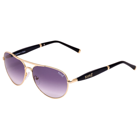 KORLOFF SUNGLASS GOLD/BLACK GRADIENT LENS GENTS
