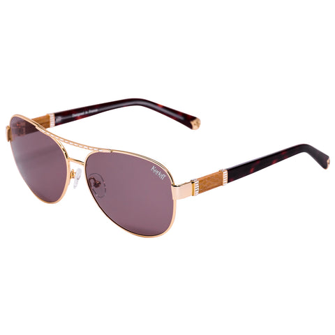Korloff Oval Ladies Sunglasses (Brown)