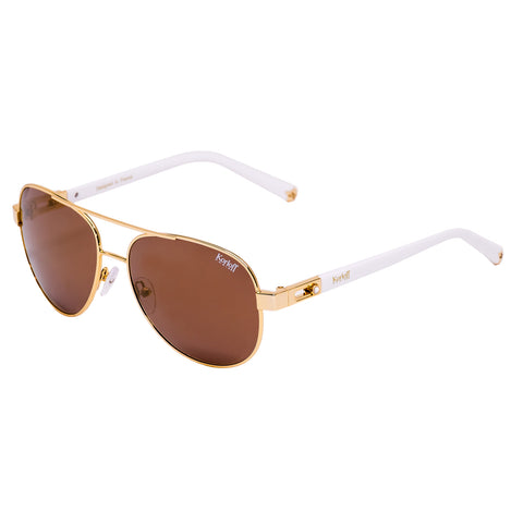 Korloff Aviator Ladies Sunglasses (Gold)