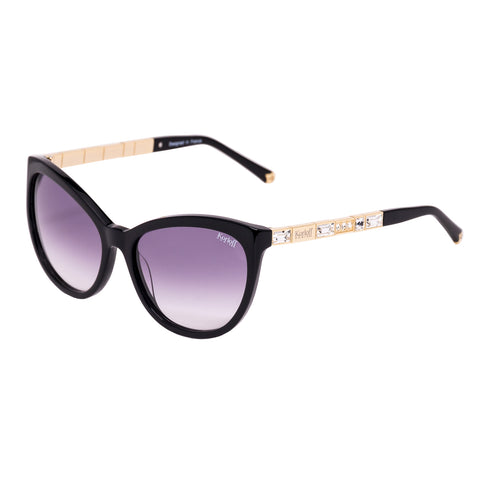 Korloff Oval Ladies Sunglasses (Black Gradient)