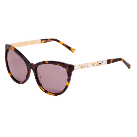 KORLOFF SUNGLASS HAVANA/BROWN LENS LADIES