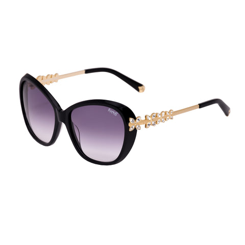 Korloff Rectangular Ladies Sunglasses (Black Gradient)