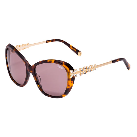Korloff Rectangular Ladies Sunglasses (Burgundy)