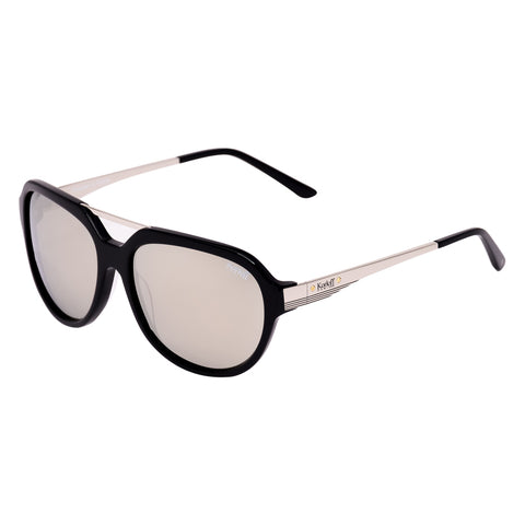 Korloff Rectangular Gents Sunglasses (Silver Mirror)