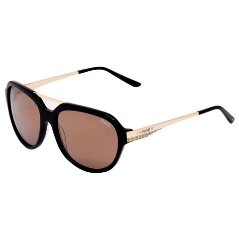 Korloff Rectangular Gents Sunglasses (Gold)