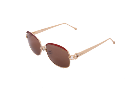Korloff Square Ladies Sunglasses (Red Lens)