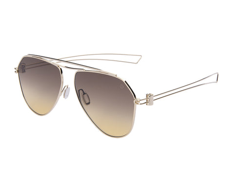 MOMO DESIGN SUNGLASSES UNISEX (SHADED AMBER BROWN )
