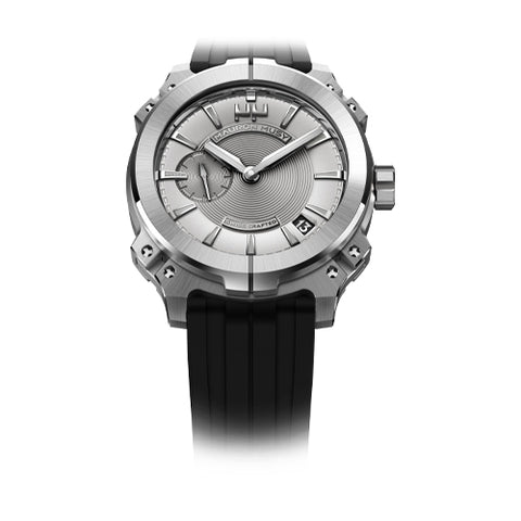 Mauron Musy Gents Rhodium Dial Watch