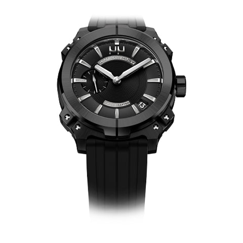 Mauron Musy Gents Black Dial Watch