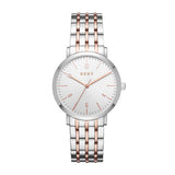 DKNY Ladies Silver Sunray Dial Watch