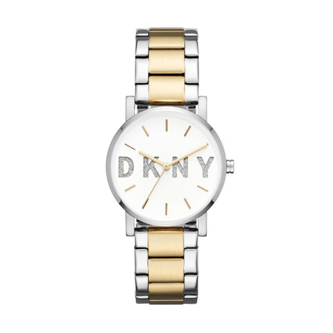 DKNY Ladies White Dial Watch