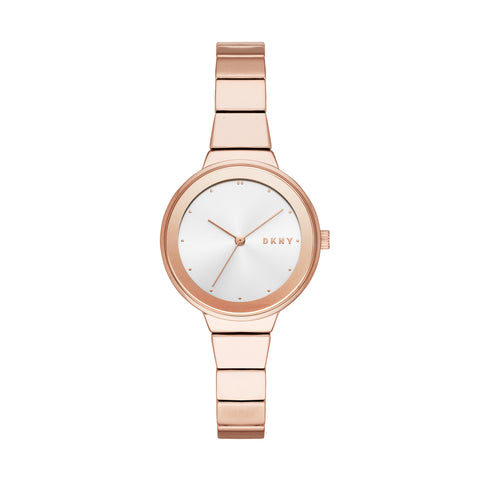 DKNY Ladies Silver Dial Watch