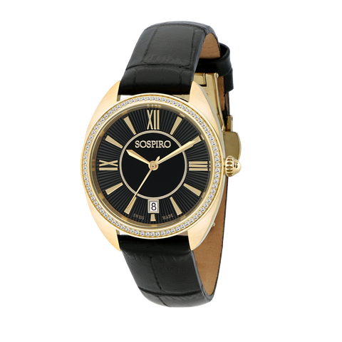 Sospiro Black Dial Ladies Watch