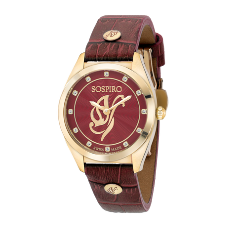 Sospiro Red Dial Ladies Watch