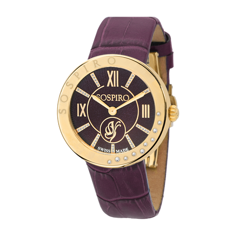 Sospiro Purple Dial Ladies Watch