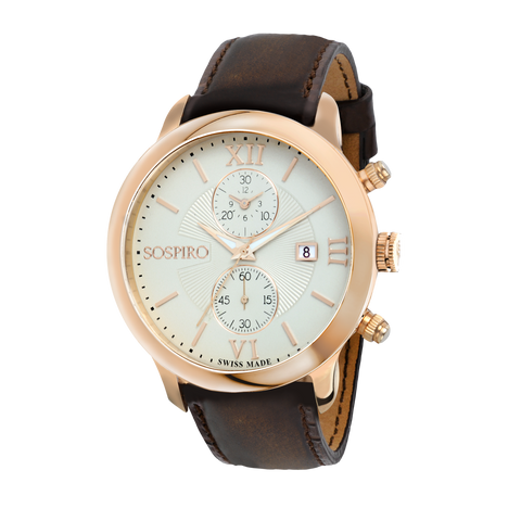 Sospiro Ivory Dial Gents Watch