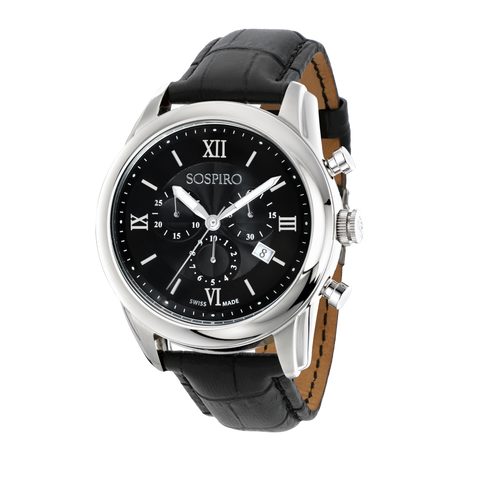 Sospiro Black Dial Gents Watch