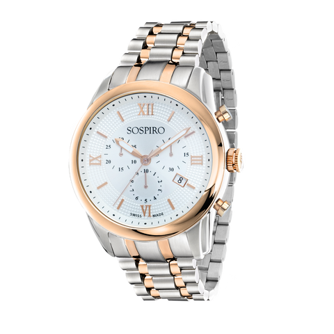 Sospiro White Dial Gents Watch