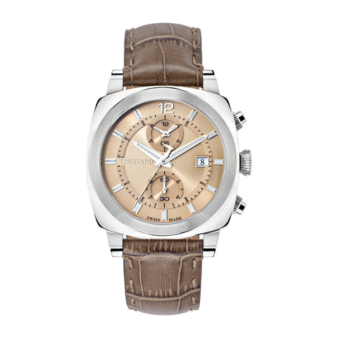 Trussardi Beige Dial Gents Watch