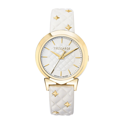 Trussardi Antilia White Dial Ladies Watch