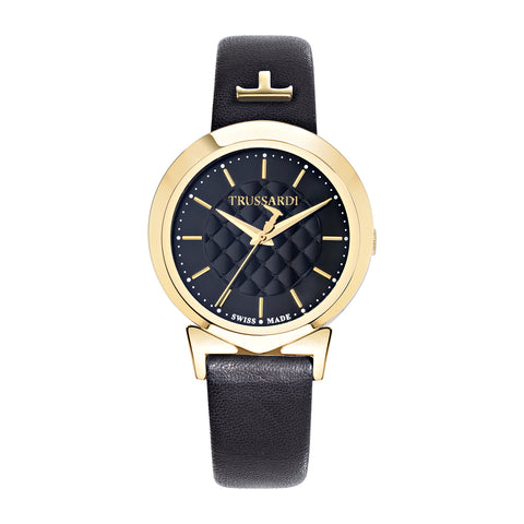 Trussardi Antilia Black Dial Ladies Watch