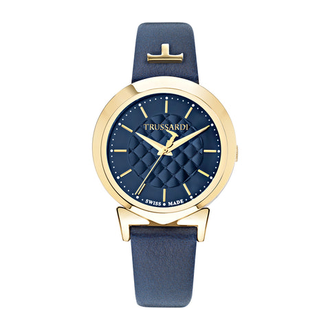 Trussardi Antilia Blue Dial Ladies Watch