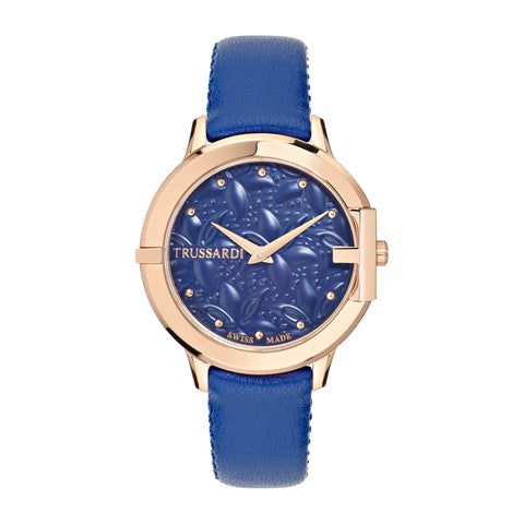 Trussardi Hera Blue Dial Ladies Watch
