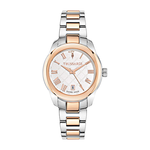 Trussardi White Dial Ladies Watch